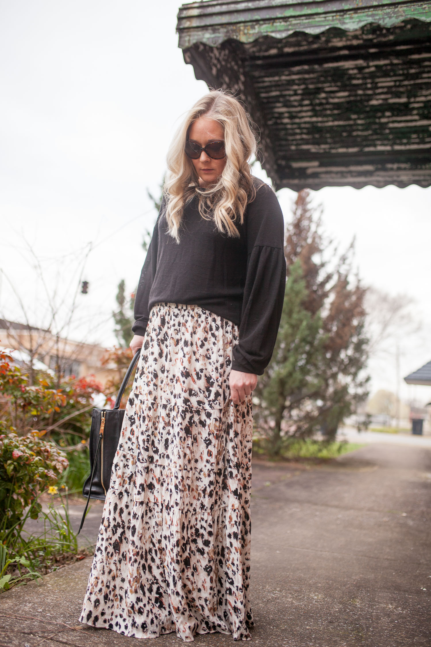 Leopard Maxi Skirt and Sweater